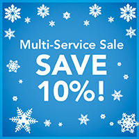 New Year New Floor - Multi-Service Sale! Save 10% on projects that include flooring and cabinet, countertop, painting and blinds purhcases! Only at Giese's Abbey Carpet & Floor!